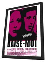 Baise Moi - 11 x 17 Movie Poster - Style B - in Deluxe Wood Frame