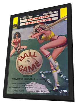 Ball Game - 11 x 17 Movie Poster - Style A - in Deluxe Wood Frame