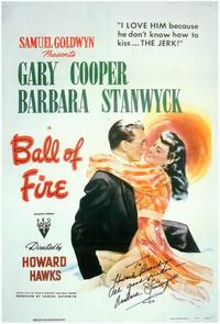 Ball of Fire - 43 x 62 Movie Poster - Bus Shelter Style A