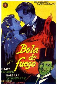 Ball of Fire - 11 x 17 Movie Poster - Spanish Style A