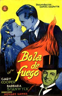 Ball of Fire - 27 x 40 Movie Poster - Spanish Style A