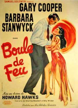 Ball of Fire - 11 x 17 Movie Poster - French Style A
