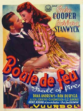 Ball of Fire - 27 x 40 Movie Poster - Belgian Style A