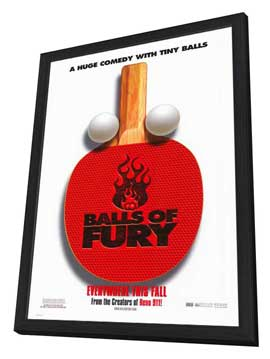 Balls of Fury - 27 x 40 Movie Poster - Style A - in Deluxe Wood Frame