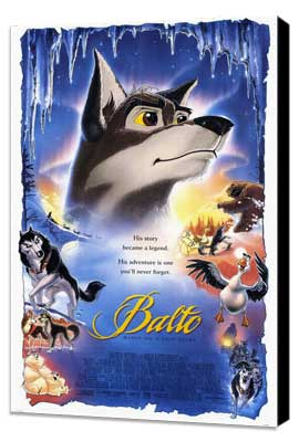 Balto - 27 x 40 Movie Poster - Style A - Museum Wrapped Canvas
