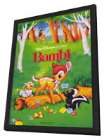 Bambi - 27 x 40 Movie Poster - Style C - in Deluxe Wood Frame