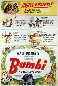 Bambi - 11 x 17 Movie Poster - Style E