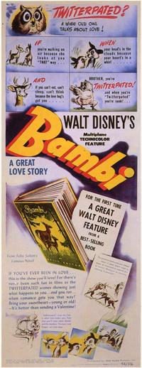 Bambi - 11 x 17 Movie Poster - Style F