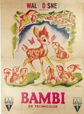Bambi - 11 x 17 Movie Poster - French Style C