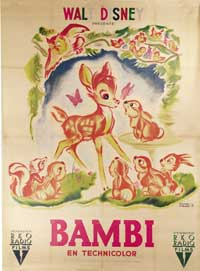Bambi - 27 x 40 Movie Poster - French Style C