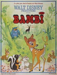 Bambi - 11 x 17 Movie Poster - French Style D