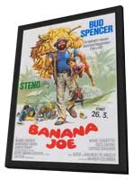 Banana Joe - 11 x 17 Movie Poster - German Style A - in Deluxe Wood Frame