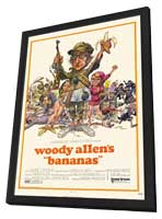 Bananas - 11 x 17 Movie Poster - Style A - in Deluxe Wood Frame