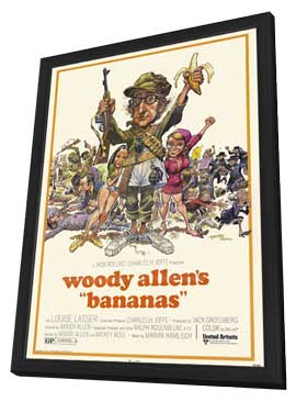 Bananas - 27 x 40 Movie Poster - Style A - in Deluxe Wood Frame