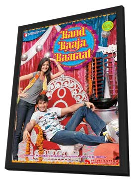 Band Baaja Baaraat - 11 x 17 Movie Poster - Indian Style A - in Deluxe Wood Frame