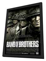 Band of Brothers - 11 x 17 Movie Poster - Style H - in Deluxe Wood Frame