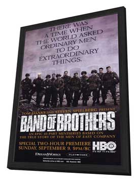 Band of Brothers - 11 x 17 Movie Poster - Style B - in Deluxe Wood Frame