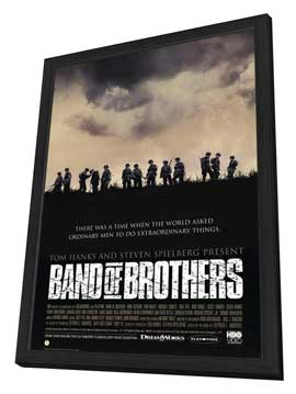 Band of Brothers - 27 x 40 Movie Poster - Style E - in Deluxe Wood Frame