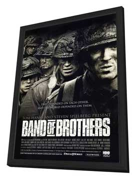 Band of Brothers - 27 x 40 Movie Poster - Style F - in Deluxe Wood Frame