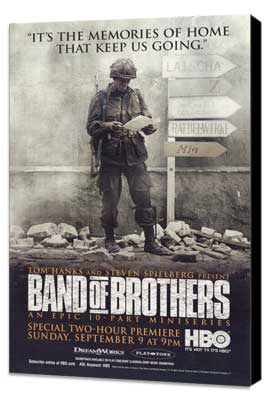 Band of Brothers - 11 x 17 Movie Poster - Style C - Museum Wrapped Canvas