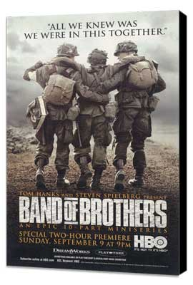 Band of Brothers - 11 x 17 Movie Poster - Style D - Museum Wrapped Canvas