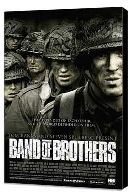 Band of Brothers - 11 x 17 Movie Poster - Style H - Museum Wrapped Canvas