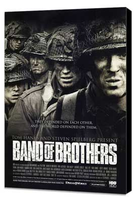 Band of Brothers - 27 x 40 Movie Poster - Style F - Museum Wrapped Canvas