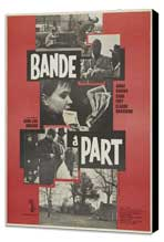 Band of Outsiders - 11 x 17 Movie Poster - French Style A - Museum Wrapped Canvas