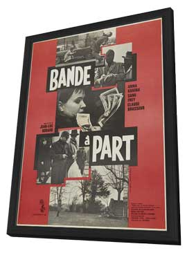 Band of Outsiders - 27 x 40 Movie Poster - French Style A - in Deluxe Wood Frame