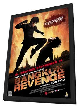 Bangkok Revenge - 11 x 17 Movie Poster - Style A - in Deluxe Wood Frame