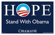 Barack Obama - Barack Obama -(Stand With Obama) Campaign Poster - 36 x 24