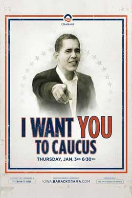 Barack Obama - (Iowa Caucus) Campaign Poster 11 x 17