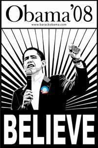 Barack Obama - Campaign Poster - 24 x 36 - Obama6