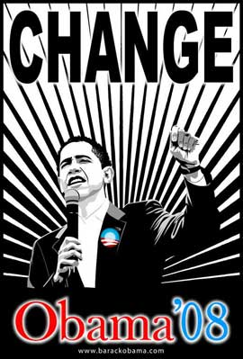Barack Obama - (Believe Red and Blue) Campaign Poster 11 x 17