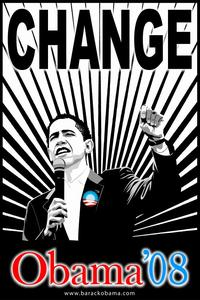 Barack Obama - (Believe Red and Blue) Campaign Poster - 24 x 36