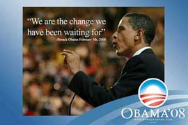 Barack Obama - (We are the change) Campaign Poster 17 x 11