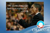 Barack Obama - (We are the change) Campaign Poster - 36 x 24