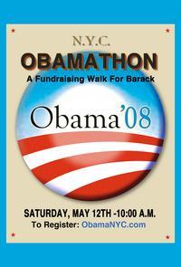 Barack Obama - (Obamathon) Campaign Poster 11 x 17
