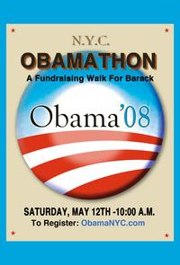 Barack Obama - (Obamathon) Campaign Poster - 24 x 36