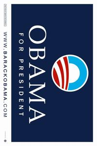 Barack Obama - (Obama Logo) Campaign Poster - 36 x 24