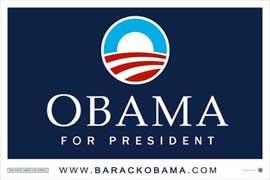Barack Obama - (Obama Logo) Campaign Poster 17 x 11