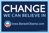 Barack Obama - (Change, Iowa) Campaign Poster - 36 x 24