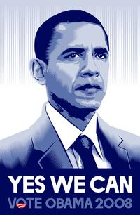 Barack Obama - (Yes We Can) Campaign Poster 11 x 17