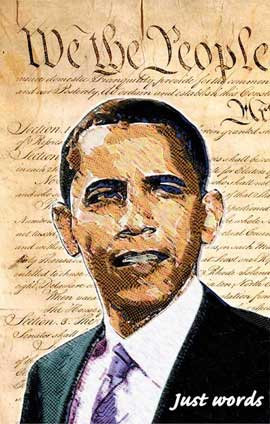 Barack Obama - (We the People) Campaign Poster 11 x 17
