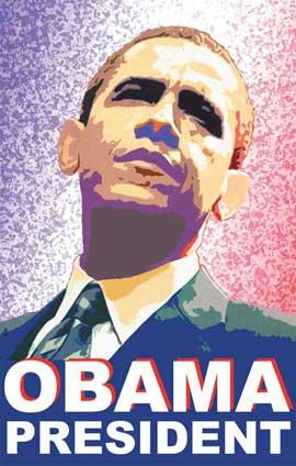 Barack Obama - (Obama President) Campaign Poster 11 x 17