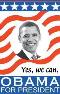Barack Obama - (Obama for President) Campaign Poster 11 x 17