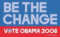 Barack Obama - (Beat the Change) Campaign Poster 17 x 11