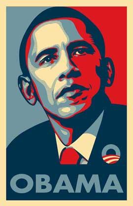 Barack Obama - RARE Campaign Poster - 11 x 17 Poster - OBAMA