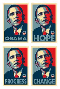 Barack Obama - RARE Campaign Poster - 11 x 17 Posters - Set of 4