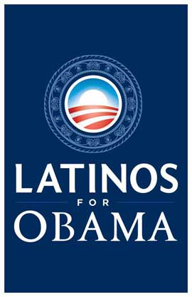 Barack Obama - (Latinos for Obama) Campaign Poster - 11 x 17